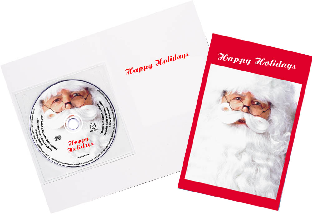 CD Christmas Music Santa Claus Greeting Card Image