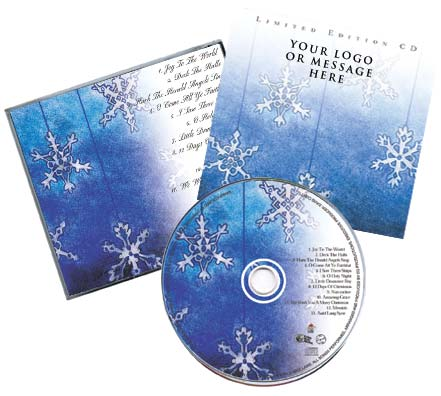 CD Christmas Music Traditional Package Snowflake Image