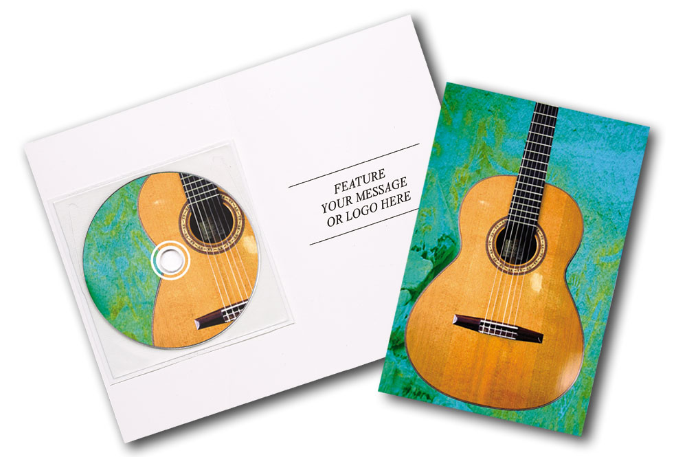 CD Spanish Guitar Music Greeting Card Image