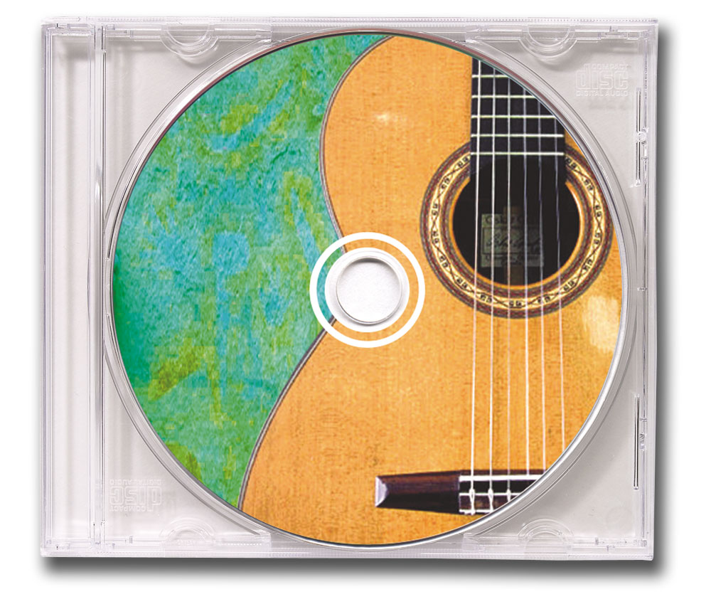CD Spanish Guitar Music Clear Jewel Case Image