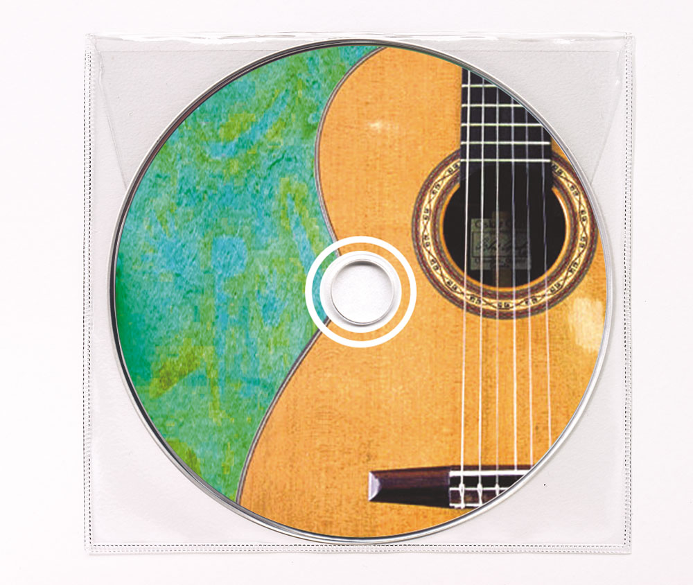 CD Spanish Guitar Music Clear Poly Sleeve Image