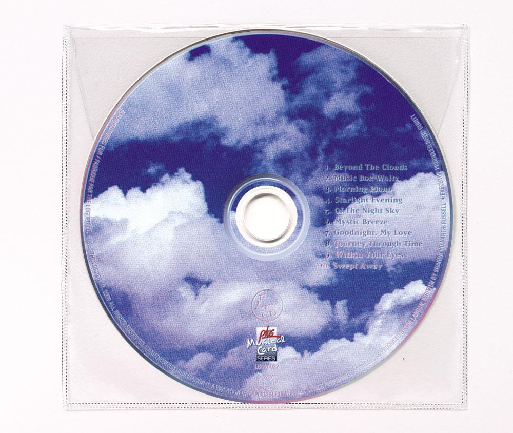 CD Tranquility Music Clear Poly Sleeve Image