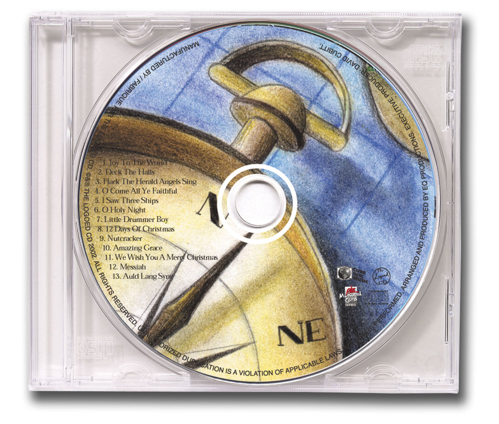 CD Christmas Music Clear Jewel Case Compass Image