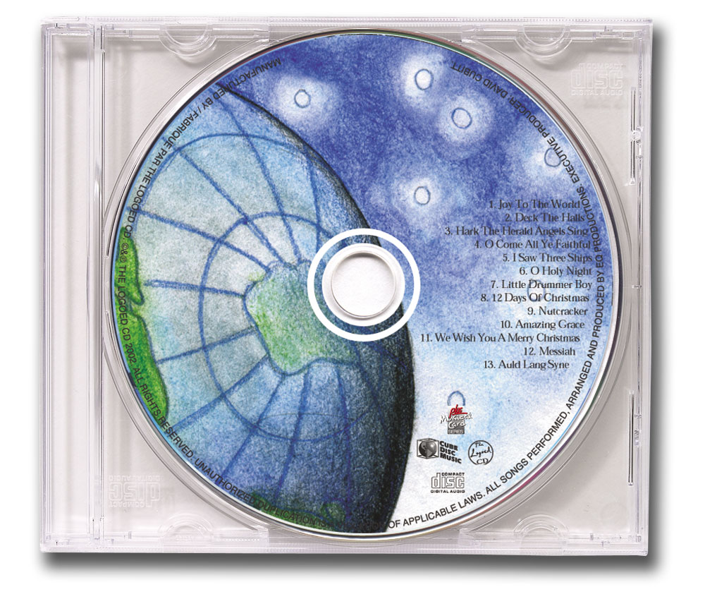 CD Christmas Music Clear Jewel Case Globe Image