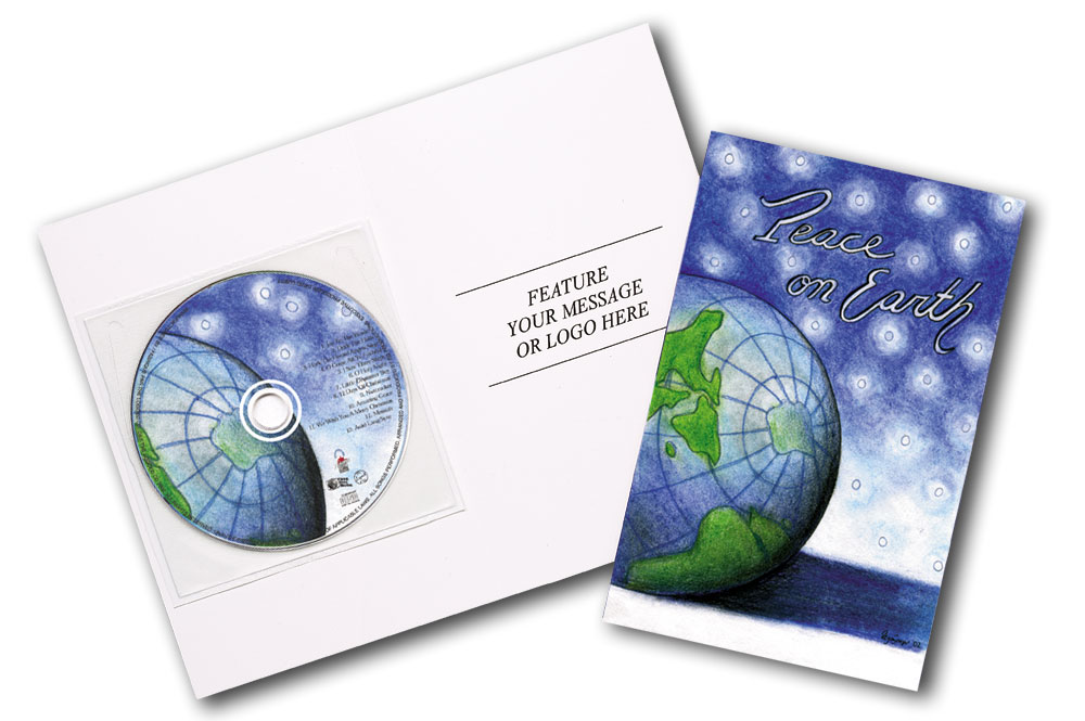 CD Christmas Music Clear Poly Sleeve Globe Image
