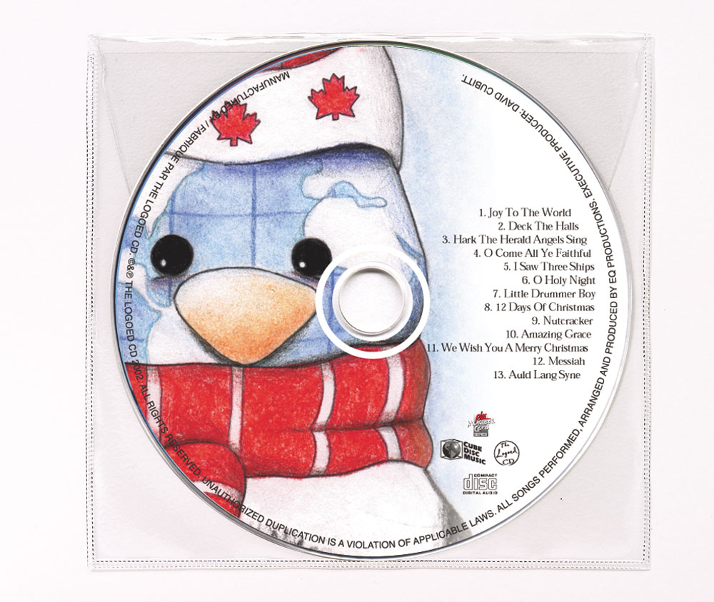 CD Christmas Music Clear Poly Sleeve Image