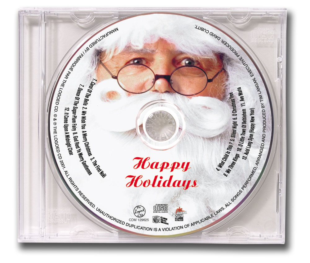 CD Christmas Music Clear Jewel Case Santa Image