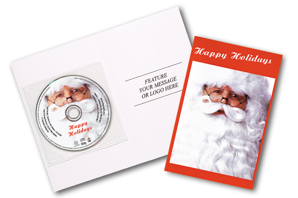 CD Christmas Music Clear Poly Sleeve Santa Image