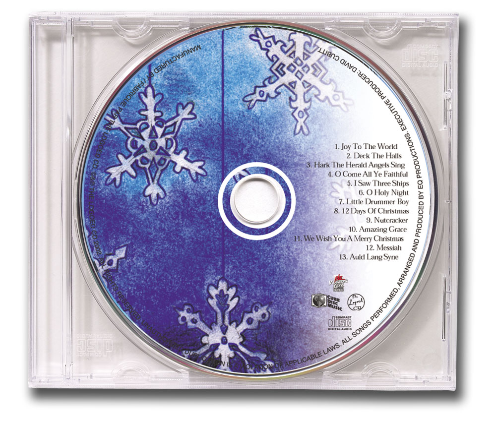 CD Christmas Music Clear Jewel Case Image