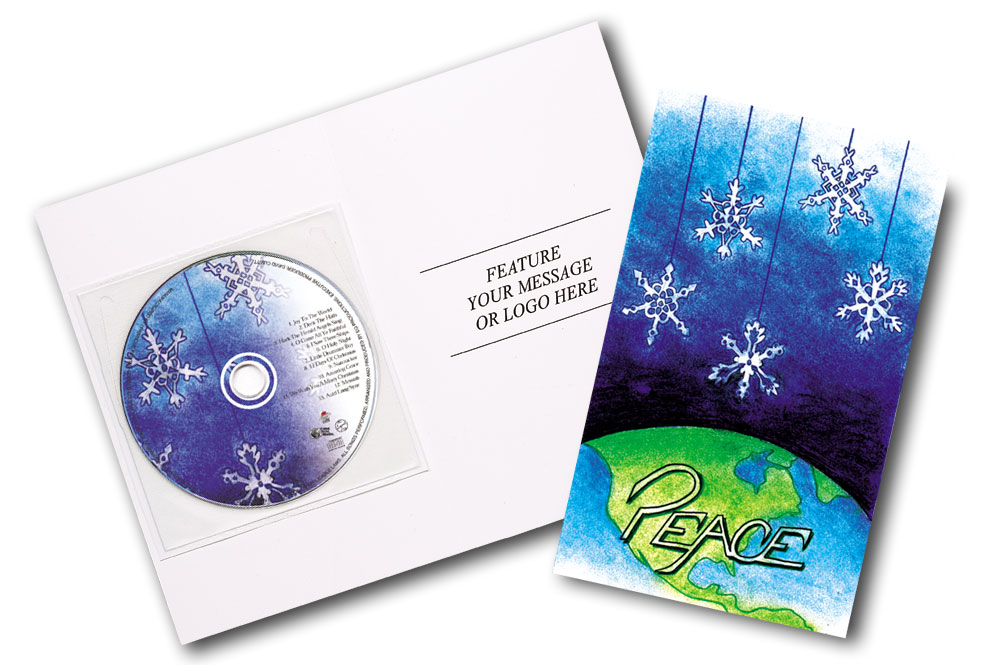 CD Christmas Music Clear Poly Sleeve Snowflake Image