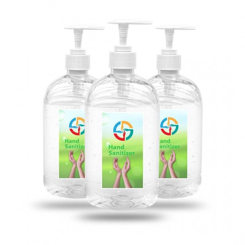 Custom Label Hand Gel Sanitizer - 16.9 oz. Pump Bottle