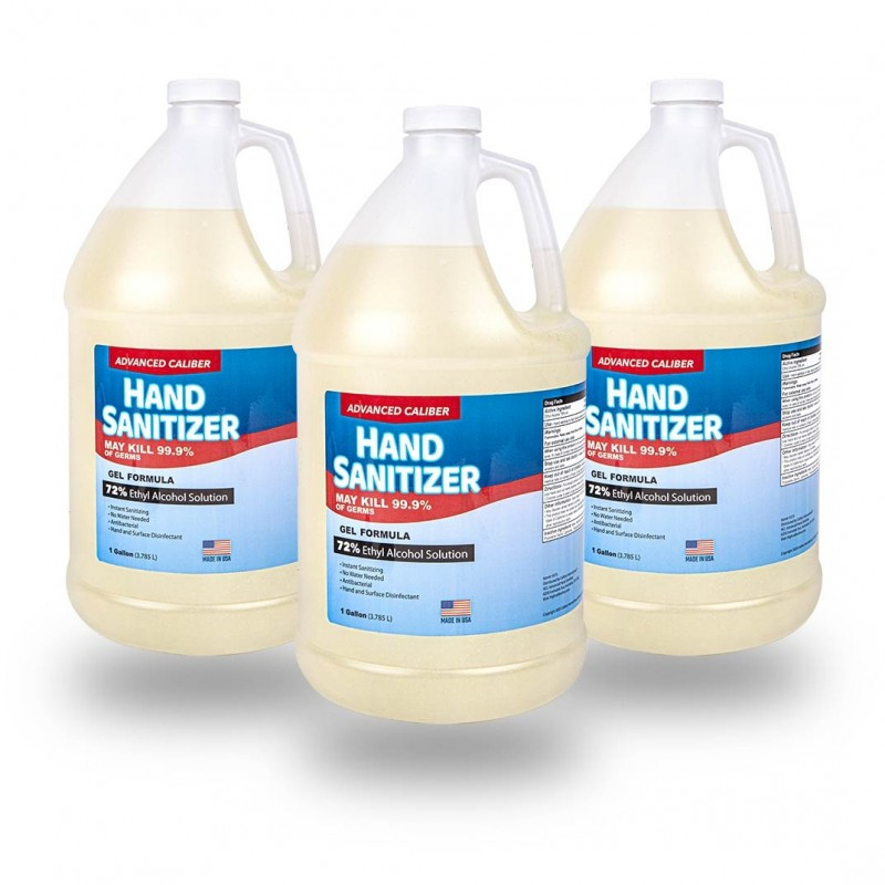 Advanced Caliber GEL Hand Sanitizer 1 Gallon Bottle 72% Alcohol