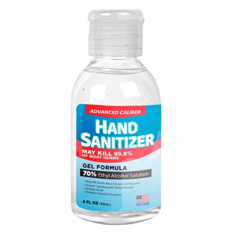 Advanced Caliber GEL Hand Sanitizer 4oz Bottle 70% Alcohol USA M