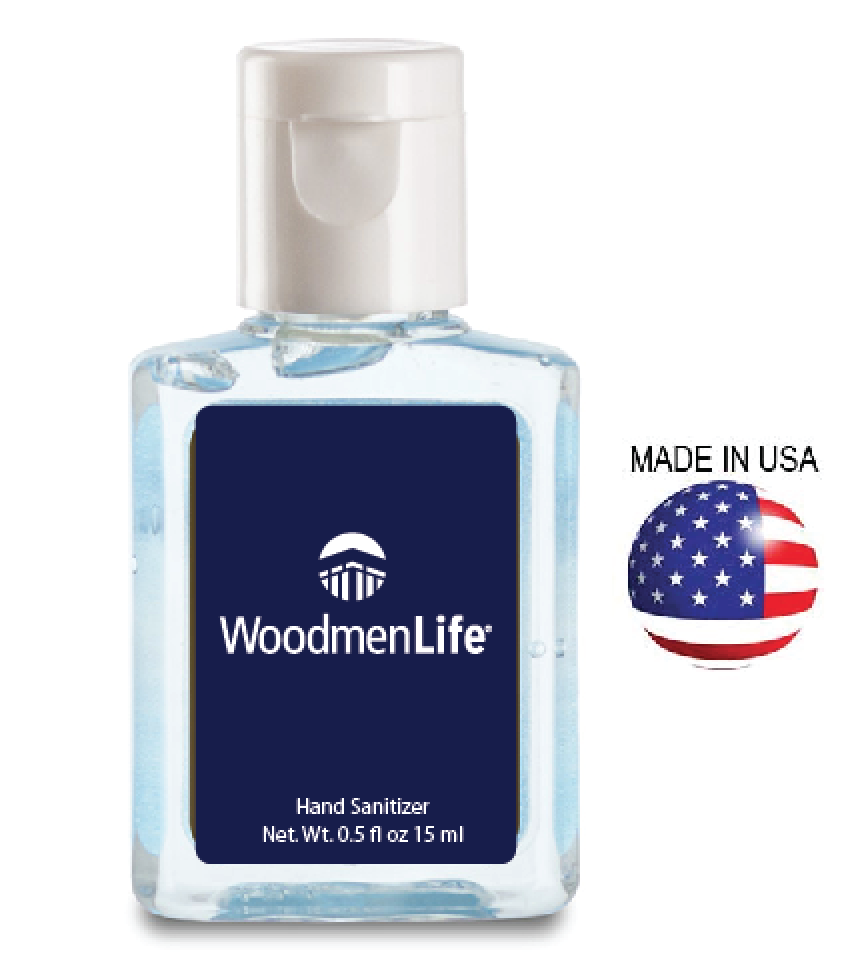 0.5oz Hand Sanitizer - Made in USA