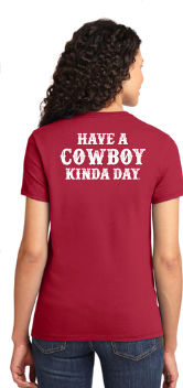 Cowboy Kinda Day Adult Ladies Short Sleeve T-Shirt