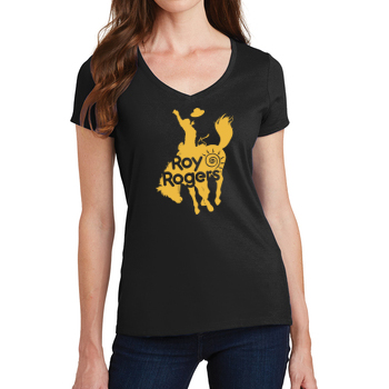 Bucking Bronco Women's V-Neck T-Shirt