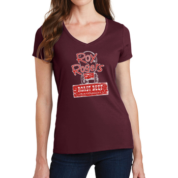 Roy's Vintage Wagon Women's V-Neck T-Shirt