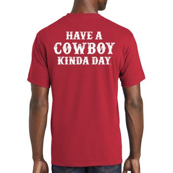 Cowboy Kinda Day Adult Short Sleeve T-Shirt
