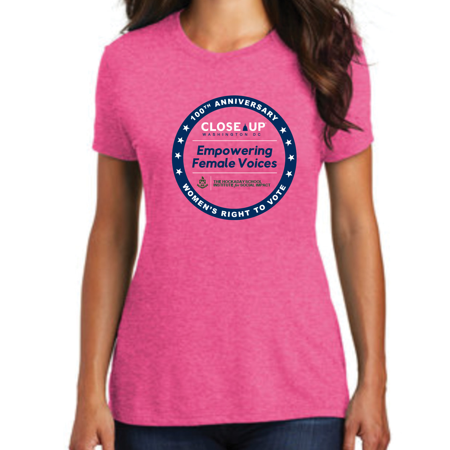 Ladies' Short Sleeve Tee - Empowering Female Voices Logo