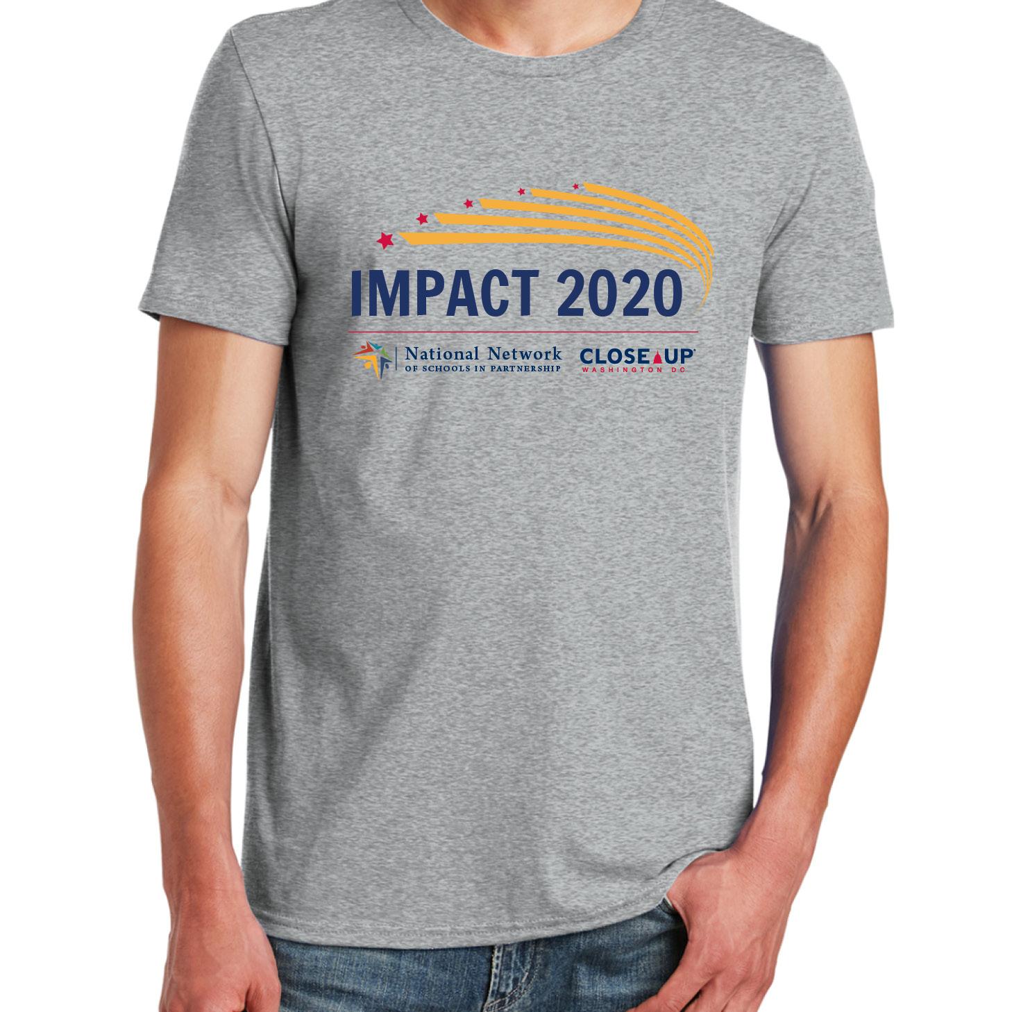 Unisex All-American Tee - Ath Hthr - Impact Logo