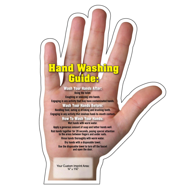 Hand Washing Tips Mega-Mag™ Shaped Magnet