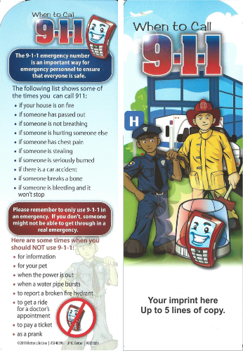 Bookmark - When to Call 9-1-1