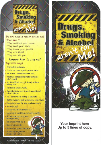 Bookmarks - Drugs, Smoking & Alcohol Aren't for Me