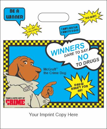 """No to Drugs - Large Die-cut Handle Bags - 12"""" x 15"""""""