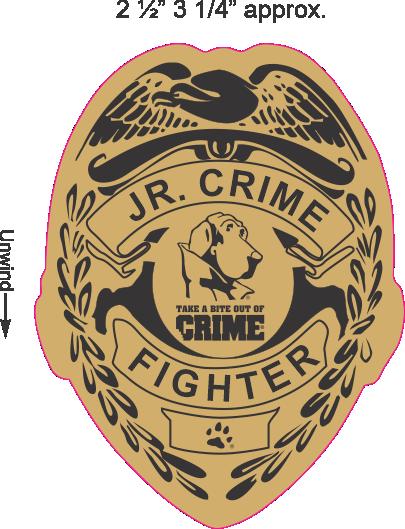 Jr. Crime Fighter Badge Sticker