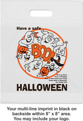 Halloween Bags (die-cut handle) - White