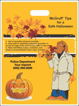 Halloween Bags (die-cut handles) - McGruff - 2 Designs