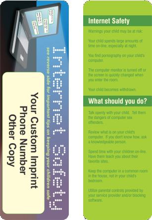 Bookmarks - Internet Safety