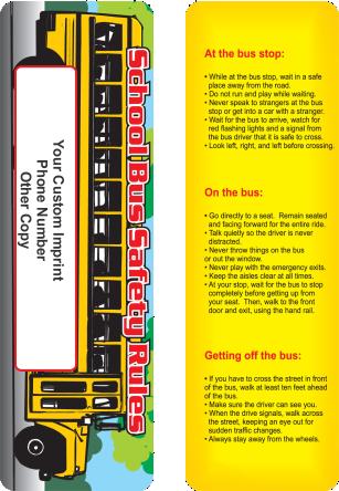 Bookmark - School Bus Safety
