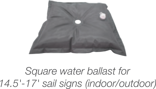 Ballast - for 17' Flying Banner
