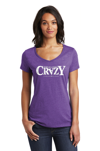 District Women's Very Important Tee V-Neck - 'Crazy' Logo