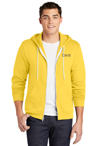 American Apparel Full Zip Hoodie - 'Crazy' Logo