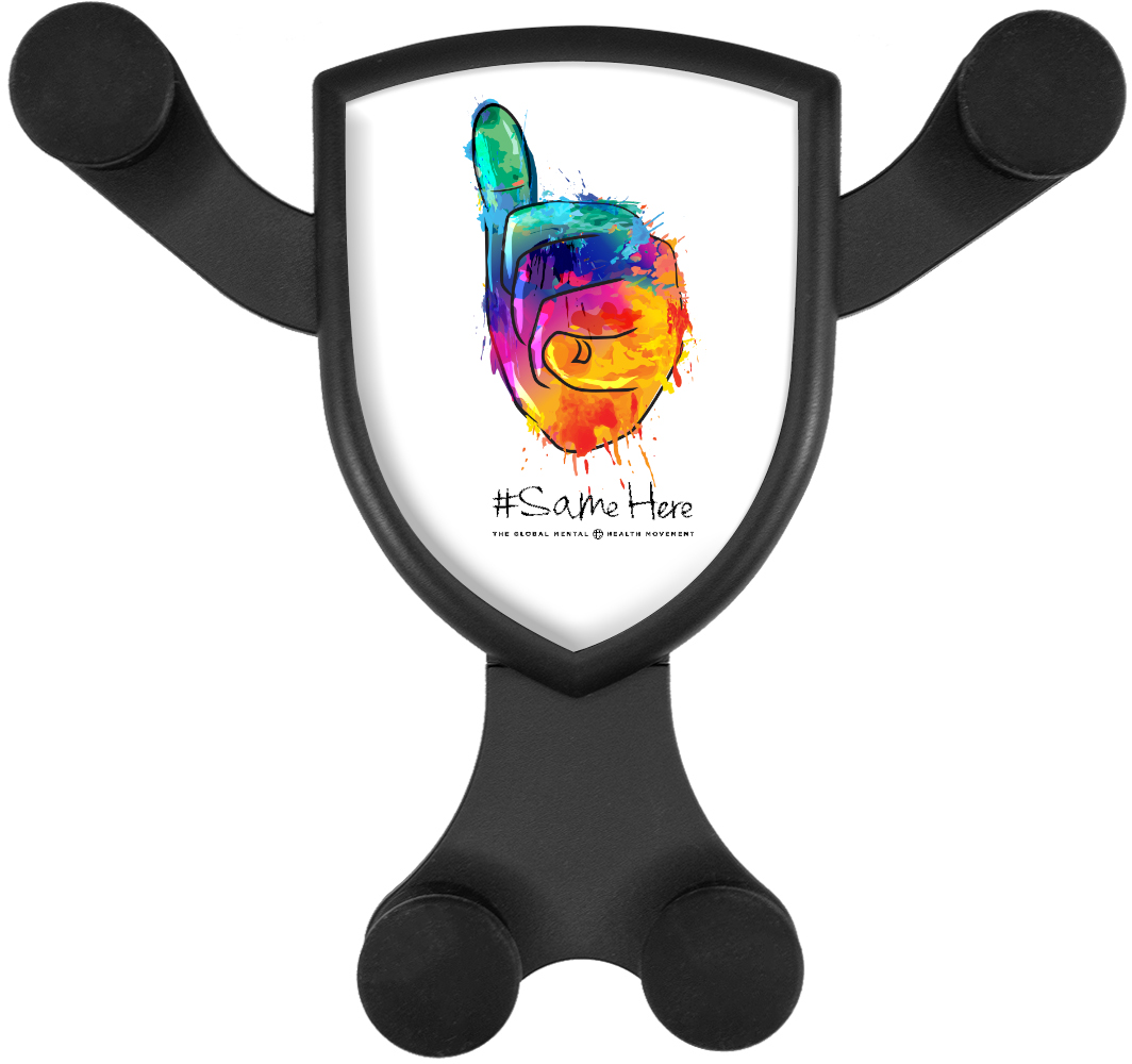 Gravitis Wireless Car Charger - Full Color #SameHere Hand Logo