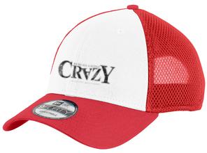 New Era Snapback Contrast Front Mesh Cap - 'Crazy' Logo