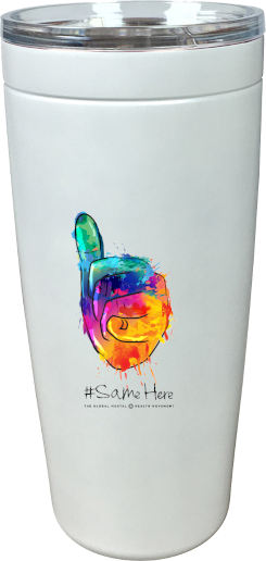 20 oz. Viking Tumbler - Full Color #SameHere Hand Logo
