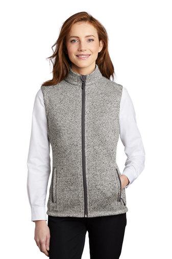 Ladies Sweater Fleece Vest