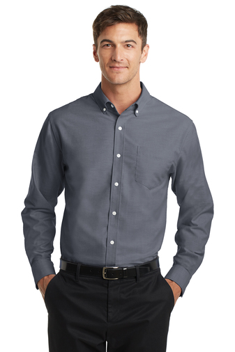 Mens Tall Easy Care Long Sleeve Oxford