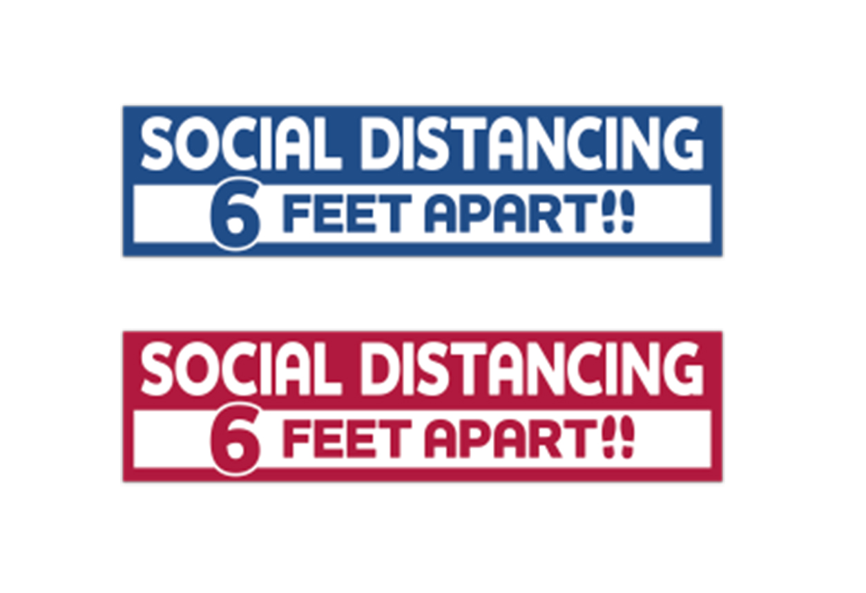 Stay Safe Floor Decals - Rectangle