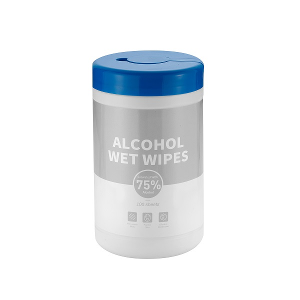 Alcohol Wet Wipes 100 pack Canister (Quantities of 240+)