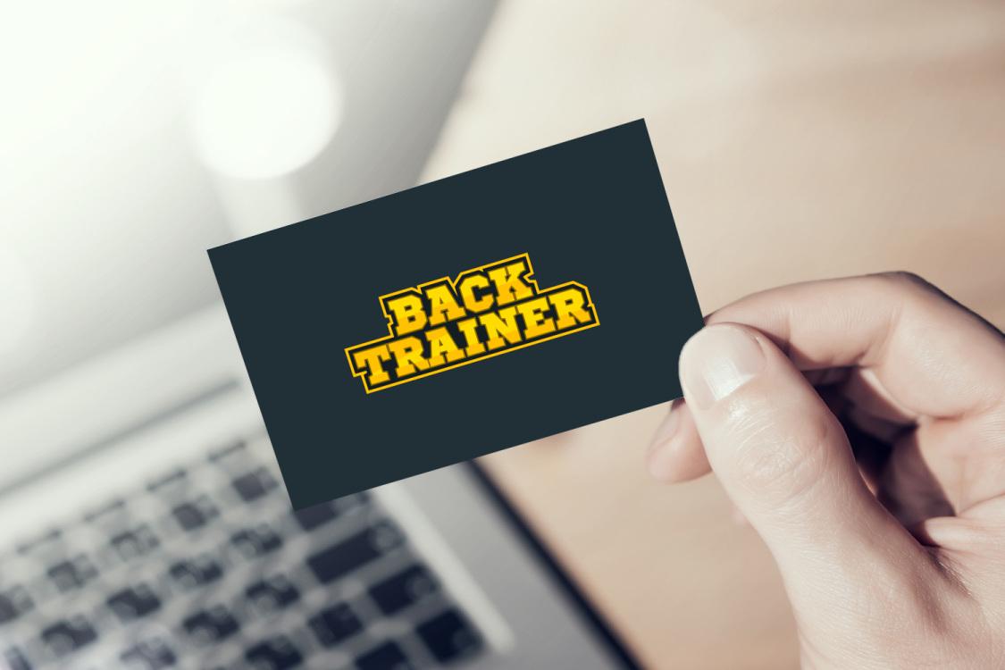 Sample branding #1 for Backtrainer