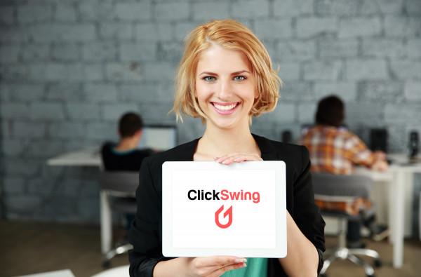 Sample branding #1 for Clickswing