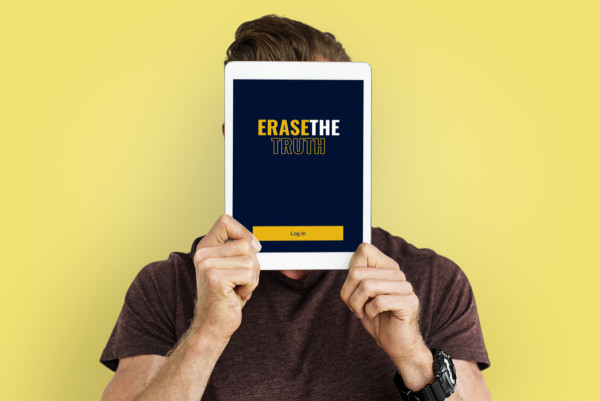 Sample branding #1 for Erasethetruth