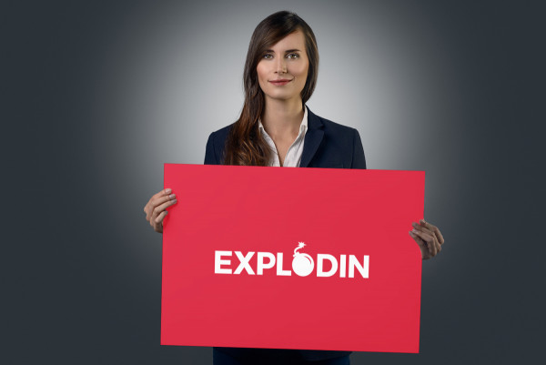 Sample branding #1 for Explodin