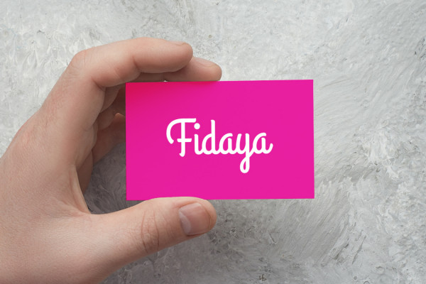 Sample branding #2 for Fidaya