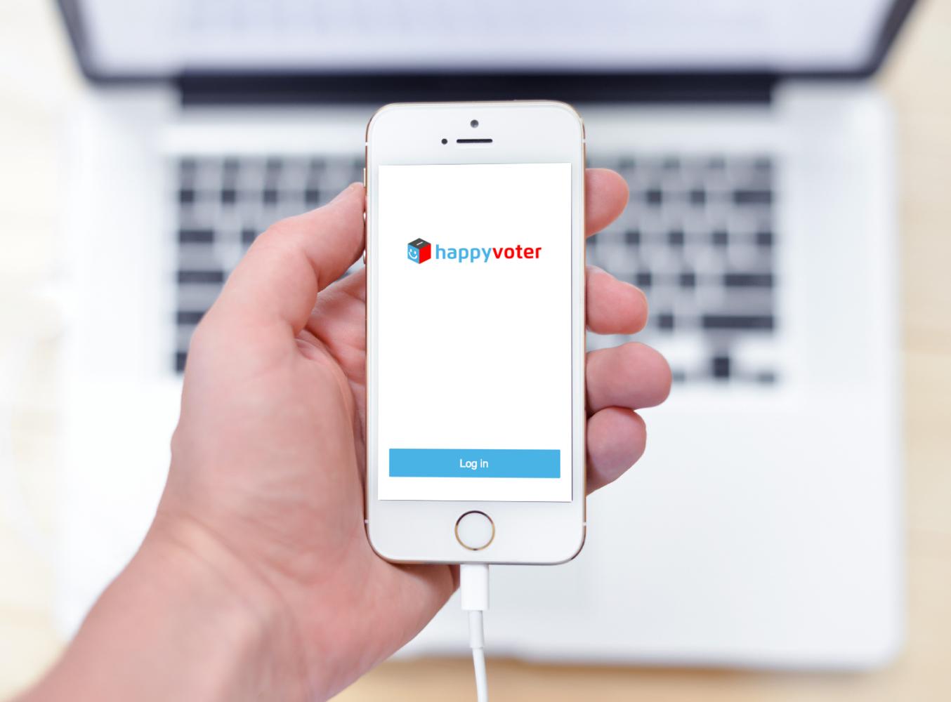 Sample branding #2 for Happyvoter
