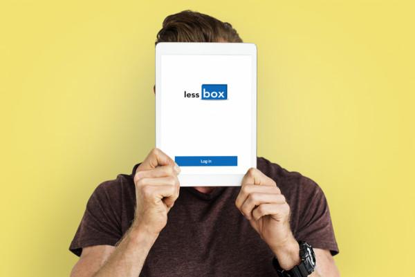 Sample branding #1 for Lessbox